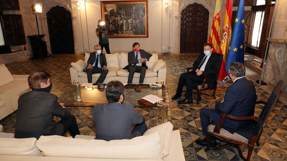 President Puig has received the representation of the textile sector at the Palau de la Generalitat
