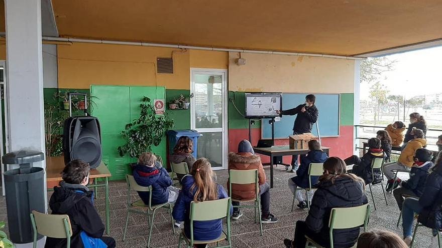 El colegio Jaume I de Catarroja coloca cajas nido