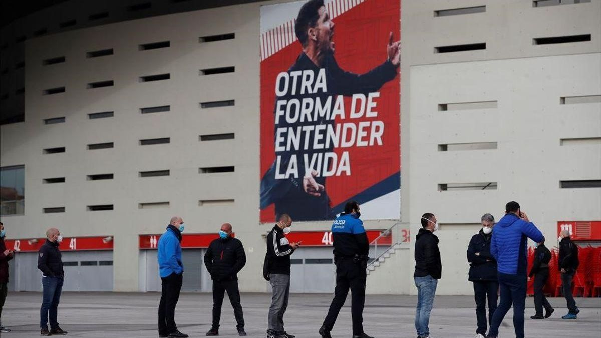 Madrid comienza a vacunar en el Wanda Metropolitano