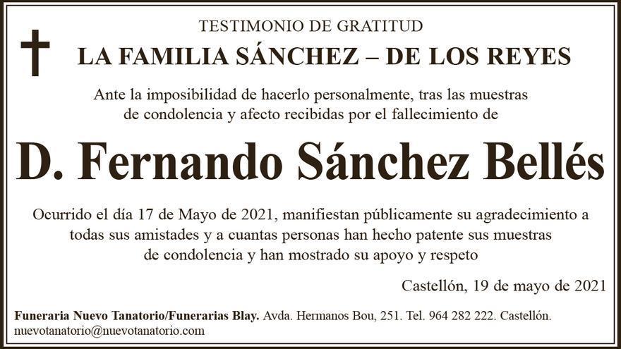 D. Fernando Sánchez Bellés