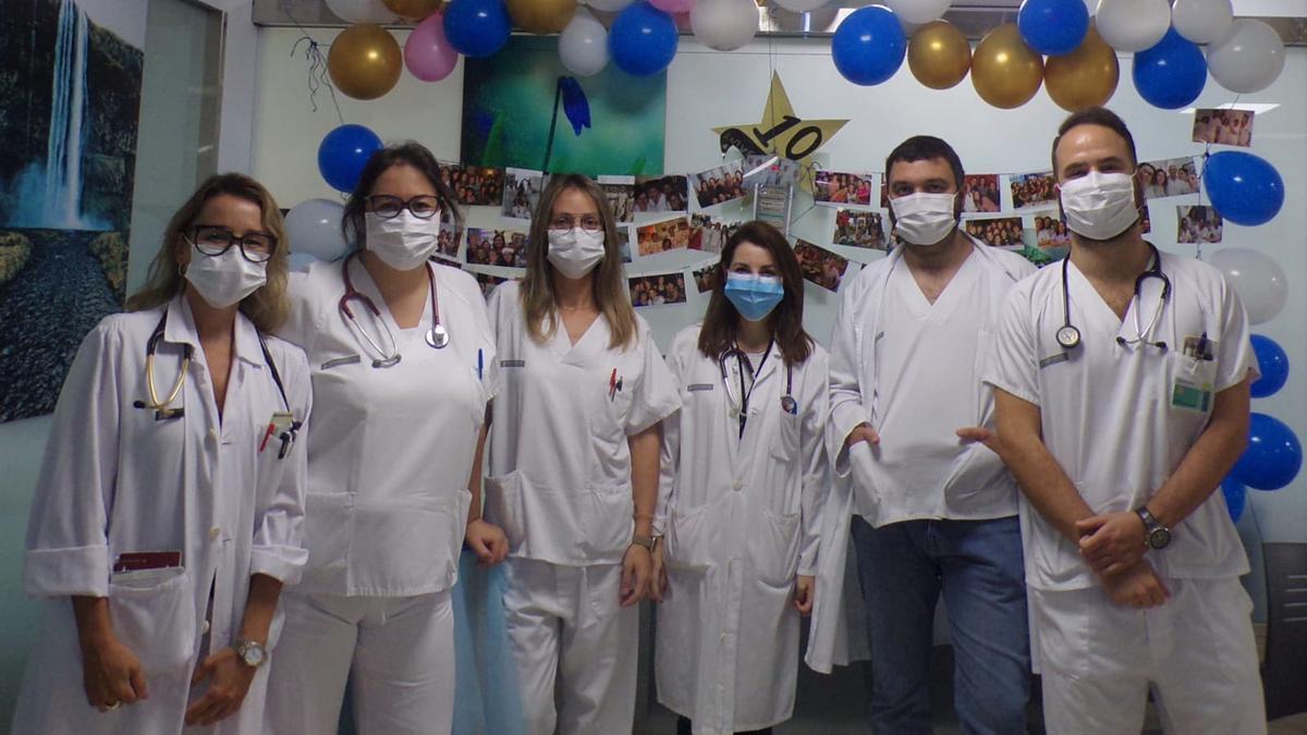 Profesionales de la Unidad de Oncología del Hospital de Elda