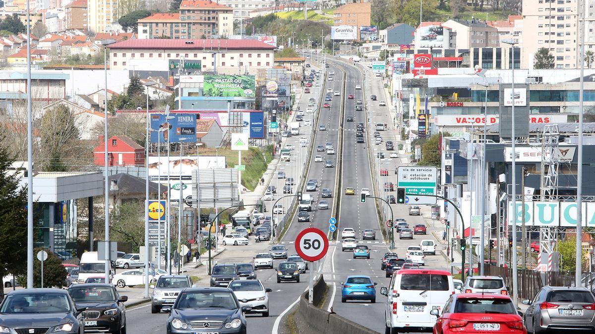 La avenida de Madrid, donde ocurrió el siniestro, en una imagen de archivo