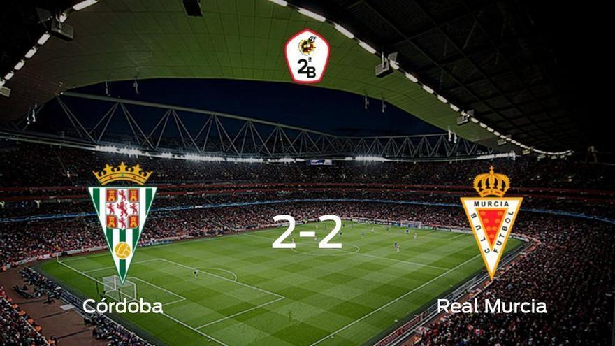El Córdoba y el Real Murcia se reparten los puntos tras su empate a dos