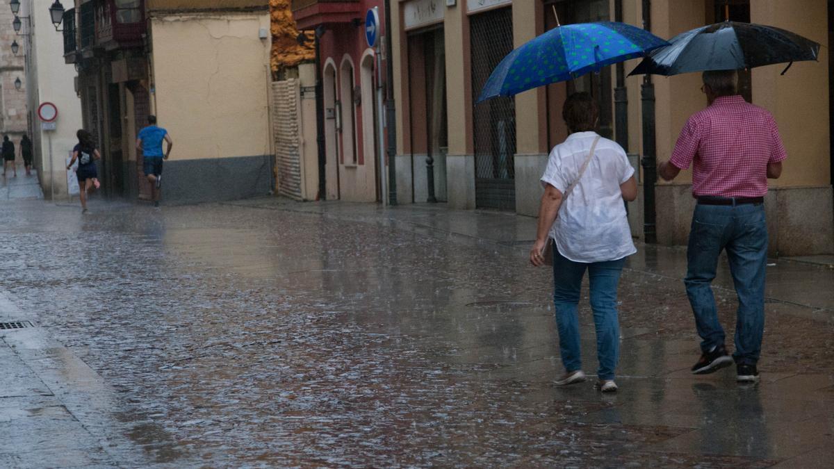 Jornada de lluvia en Zamora en una imagen de archivo.