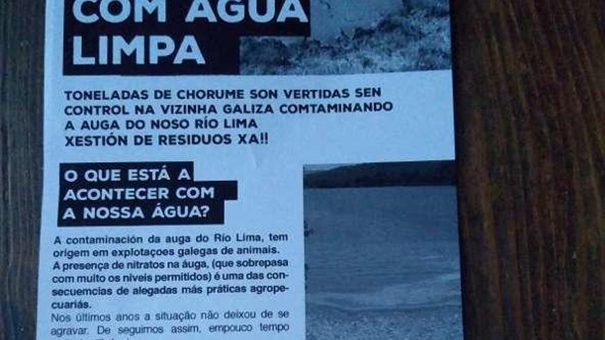 El vertido de contaminantes al río Limia ya afecta a Portugal