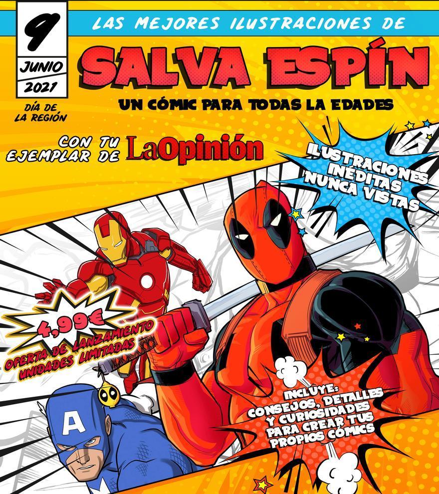 Las mejores ilustraciones del dibujante murciano Salva Espín, hoy con La Opinión