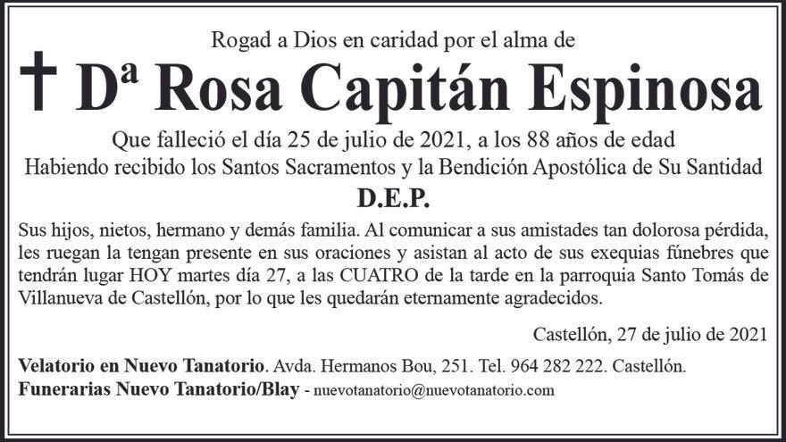 Dª Rosa Capitán Espinosa