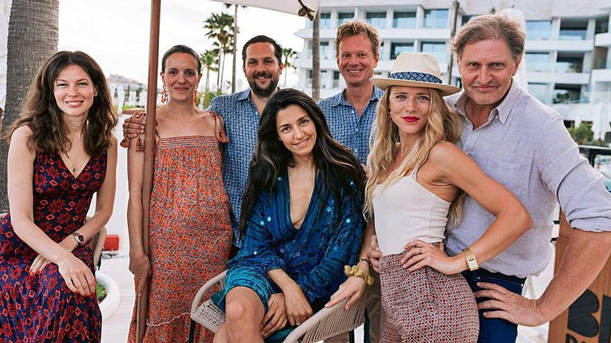 El cantante James Blunt y otros famosos, en un evento para la protección de la posidonia de Ibiza y Formentera