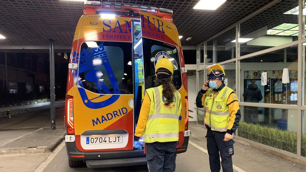 Ambulancia del Samur-Protección Civil.