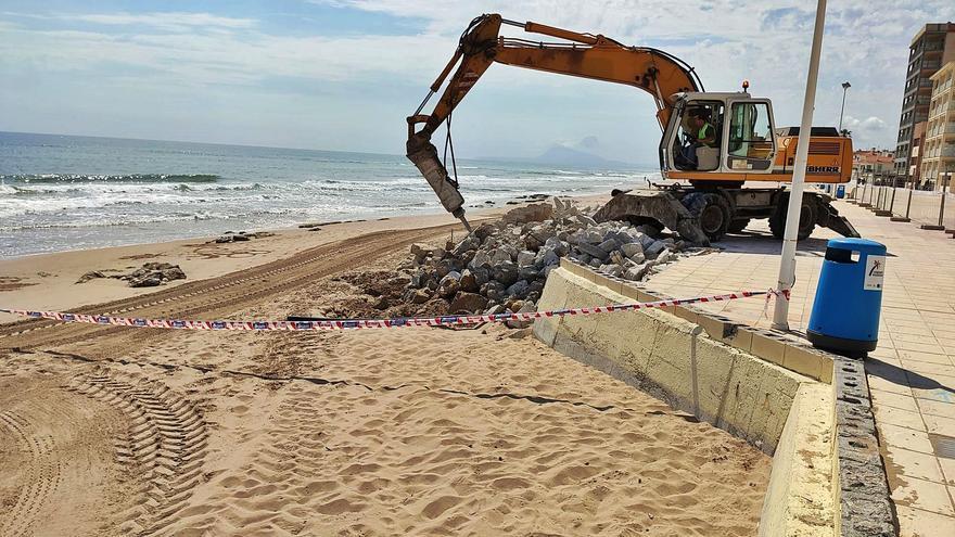 El Gobierno anuncia el enésimo proyecto para regenerar  las playas del sur de la Safor