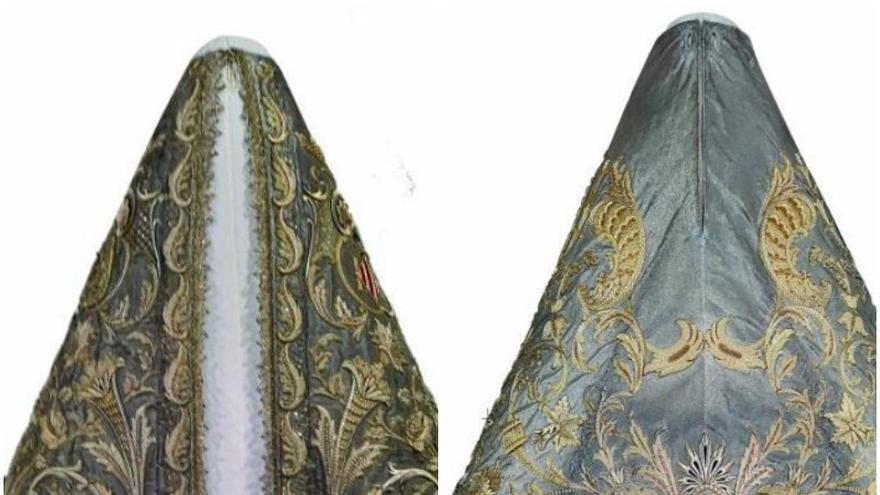 Uno de los mantos más especiales cubrirá a la Virgen en su regreso