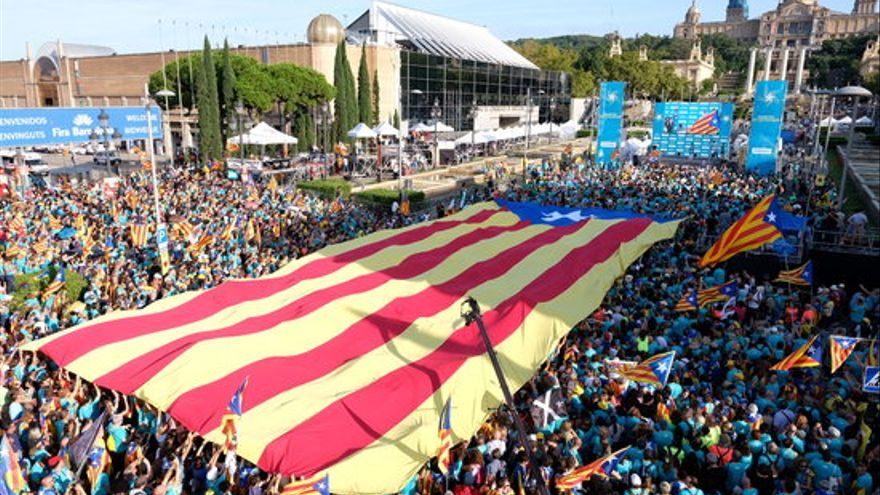 Manifestació de l'11 de setembre a Barcelona, en directe