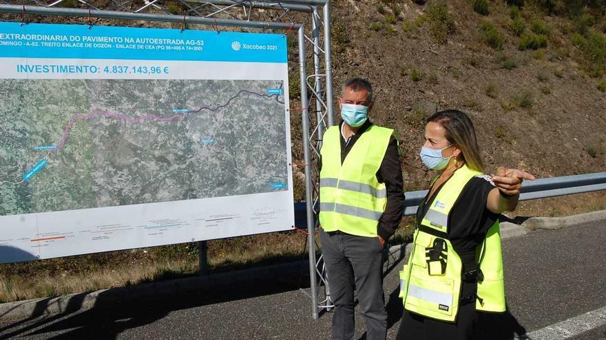 Infraestructuras aprueba por un millón de euros la entrada a la autovía AG-53 desde Dozón sentido Ourense