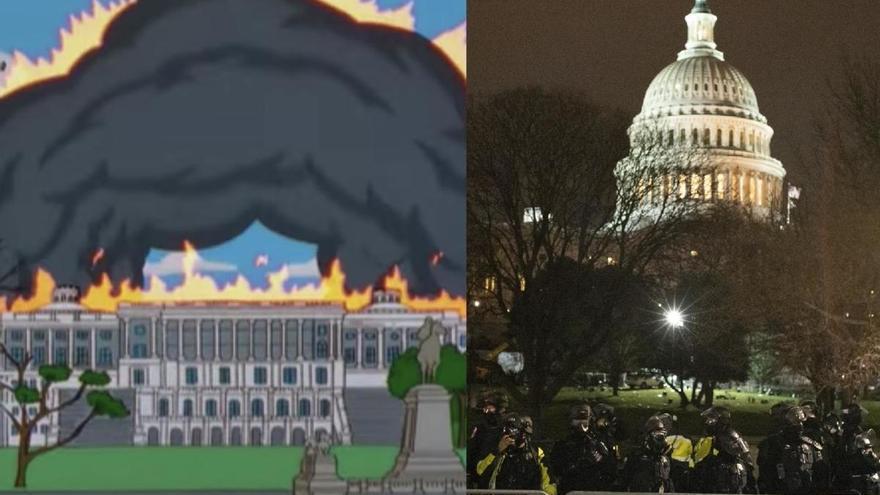 'Los Simpson' también predijeron el asalto al Capitolio de EEUU