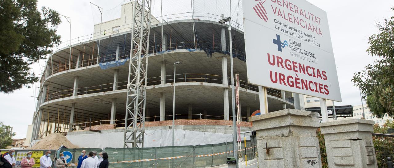 Imagen de las obras de Urgencias del Hospital General de Alicante, que se están desarrollando desde hace meses