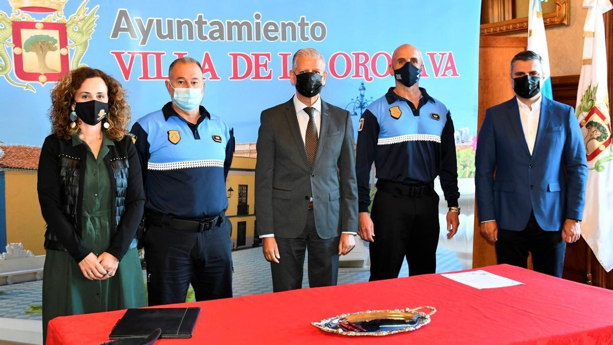 La toma de posesión del nuevo jefe de la Policía Local, Ignacio Sánchez