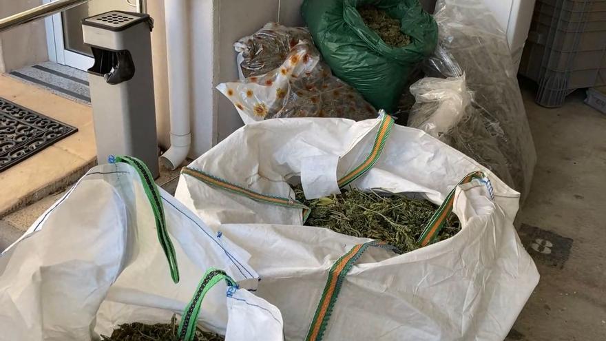 Desmantelan una fábrica de hachís con más de 8.000 kilos de droga
