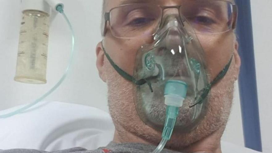 Veljko Mrsic, hospitalizado con Covid-19 en Zagreb
