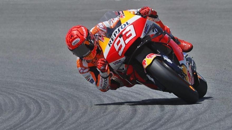 Ensurt de Marc Márquez i «pole» per a Quartararo en el GP d'Espanya a Jerez