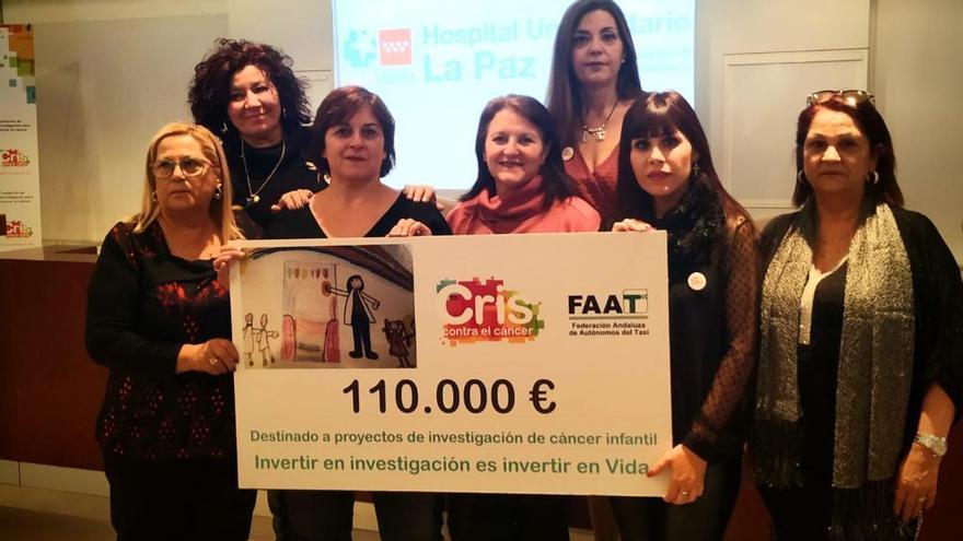 Taxistas de la Región donan más de 100.000 euros contra el cáncer infantil