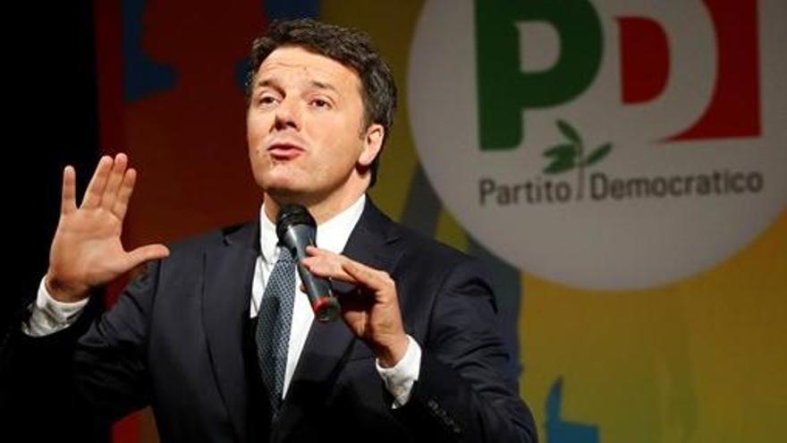 Renzi renuncia como líder del Partido Democrático