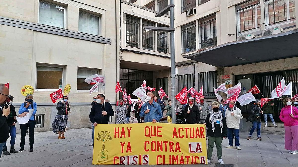 Una concentración para exigir políticas contra el cambio climático