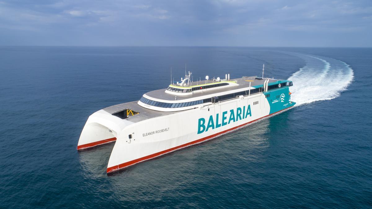 El 'Eleanor Roosevelt' es el primer 'fast ferry' a nivel mundial de gas natural.
