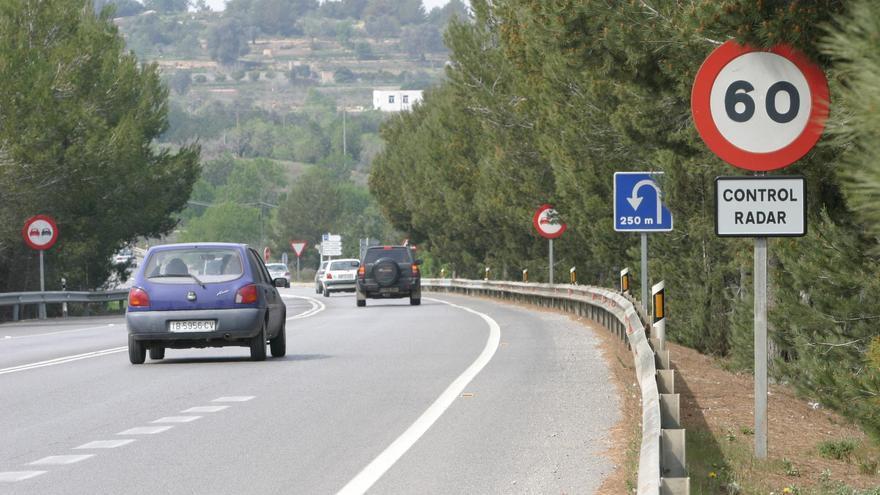 El radar de tráfico de la autovía de Sant Antoni en Ibiza, entre los más 'multones' de toda España