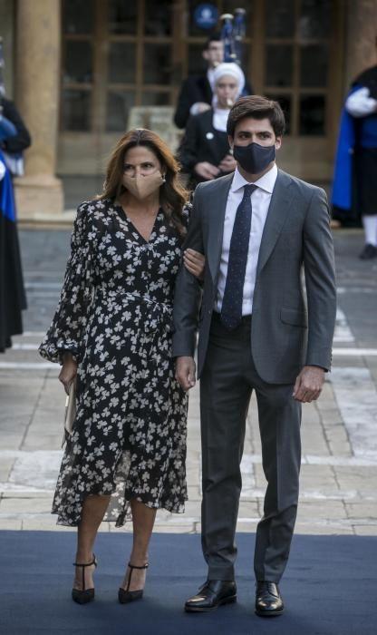 La mujer y el hijo de Carlos Sainz, Reyes y Carlos.