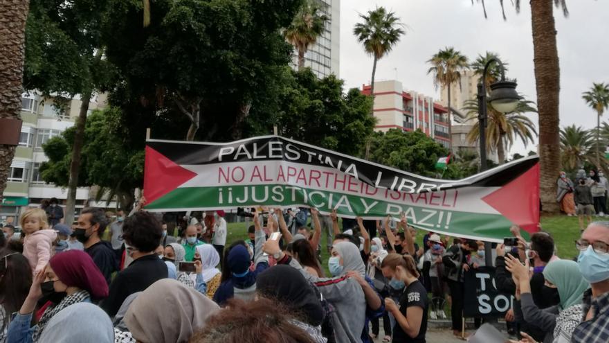 Concentración en Las Palmas de Gran Canaria para pedir el fin de la violencia en Gaza