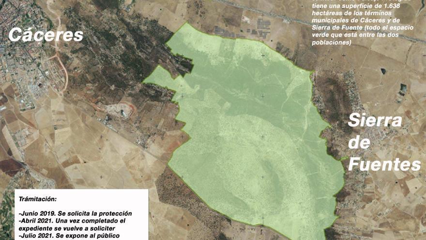 El paraje de Valdeflores queda de inicio fuera del espacio de paisaje protegido