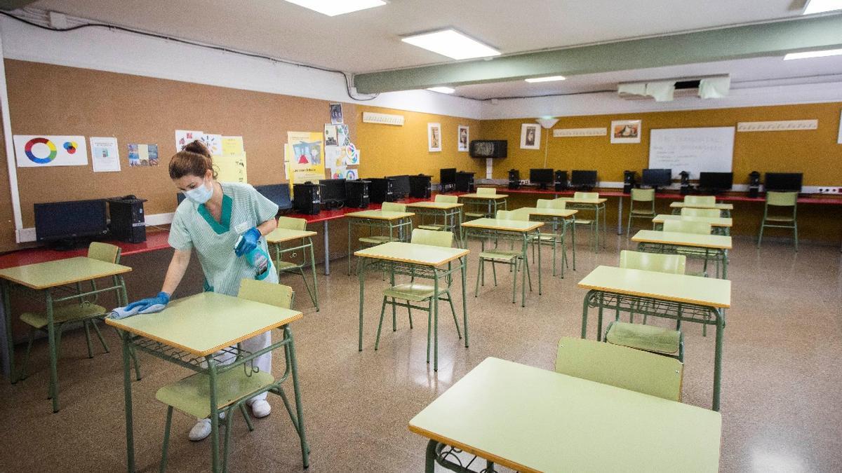 Imatge d'arxiu d'una aula buida. Foto: Germán Caballero