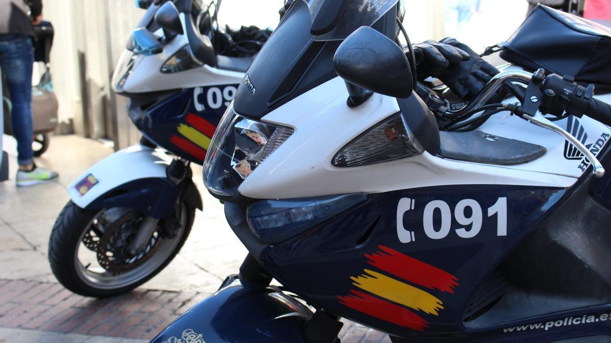 Motocicletas de la Policía Nacional.