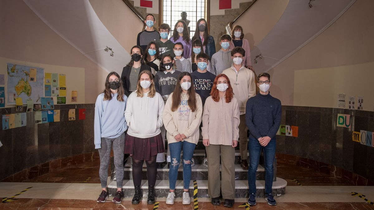 Estudiantes de 2º de Bachillerato del IES Ramón y Cajal de Huesca.