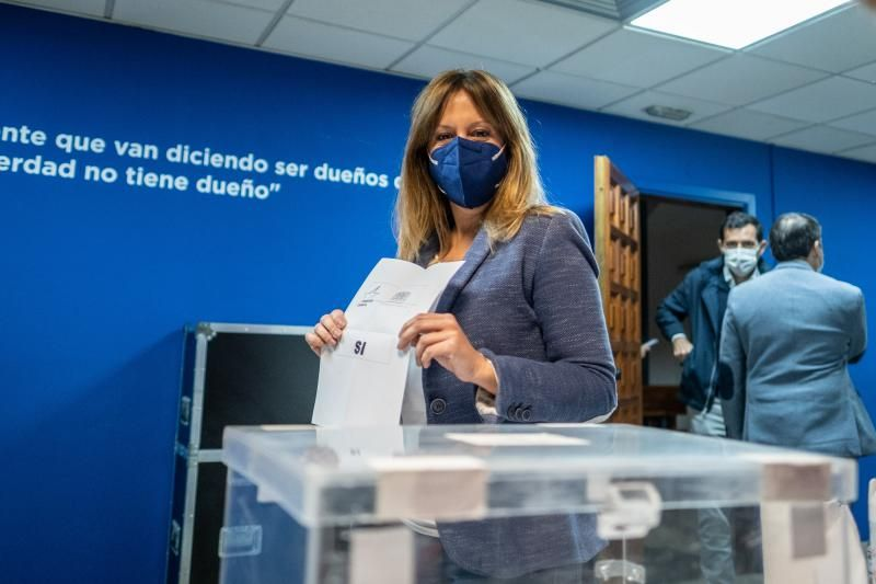Elección de Linares como secretario general de CC en Tenerife