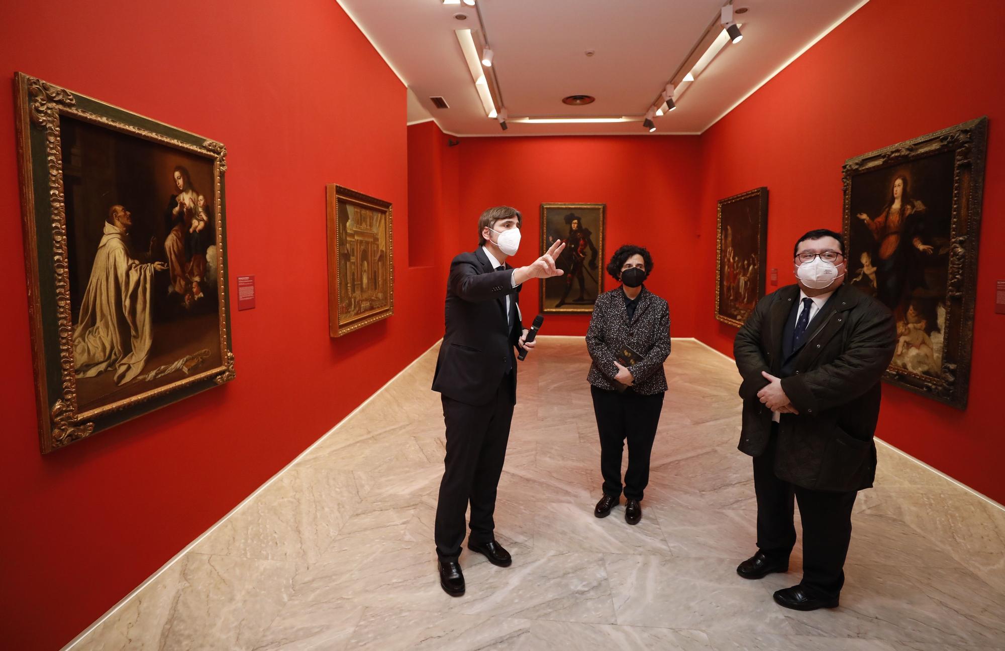 Inauguración de la exposición en el Bellas Artes de las obras donadas por Plácido Arango
