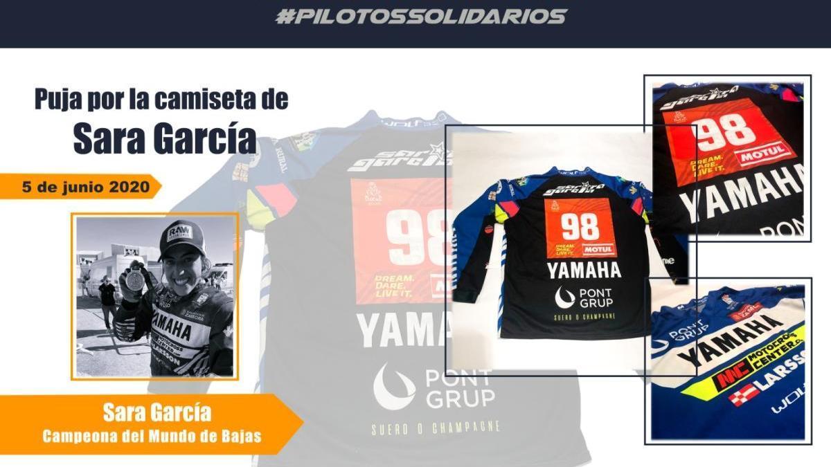 Sara García se une a una iniciativa solidaria de la Federación Motociclista