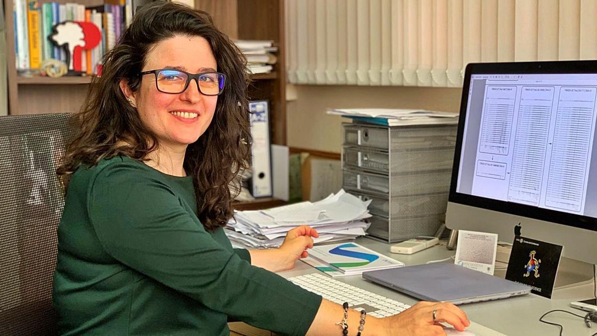 Ana Grande, en su espacio de trabajo en Málaga.    // CEDIDA
