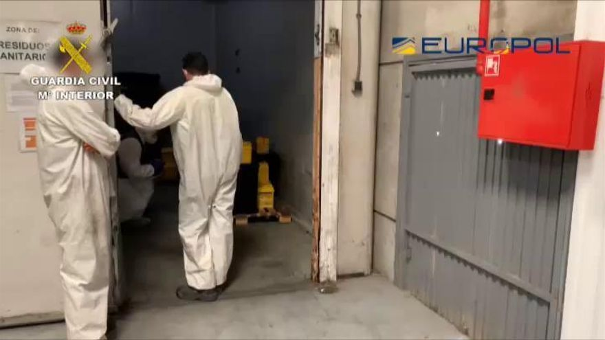 La Guardia Civil denuncia 184 infracciones en empresas de residuos sanitarios