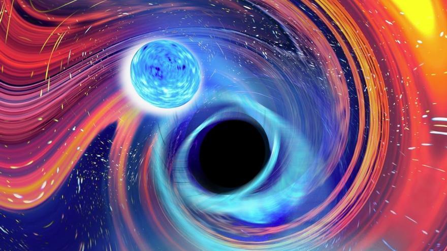Detectan por primera vez la fusión de un agujero negro con estrellas de neutrones