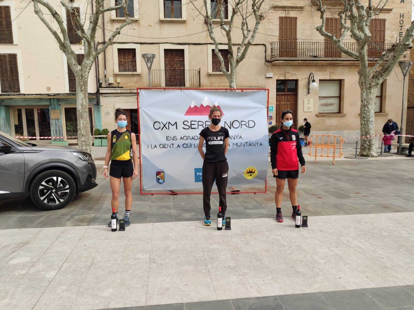 Podio femenino de la CxM Mallorca Nord del sábado.jpg