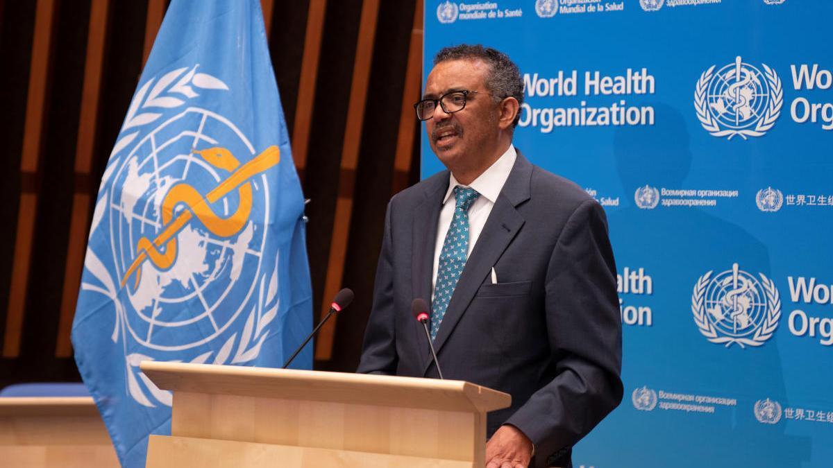 El director de la OMS, Tedros Adhanom Ghebreyesus