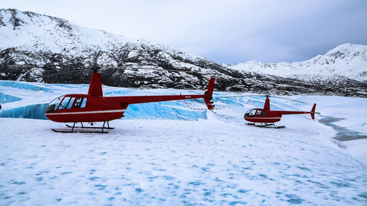 Helicópteros en Alaska.