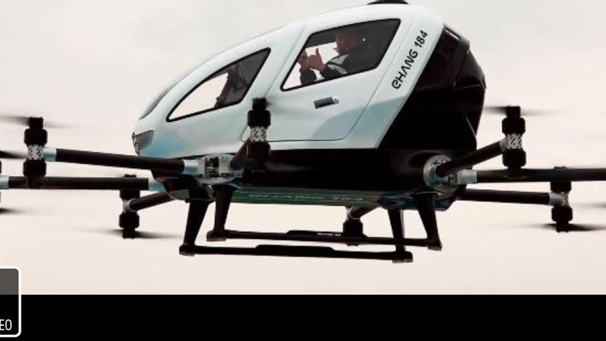 Així és l'EHang, el taxi volador xinès que arriba a Catalunya