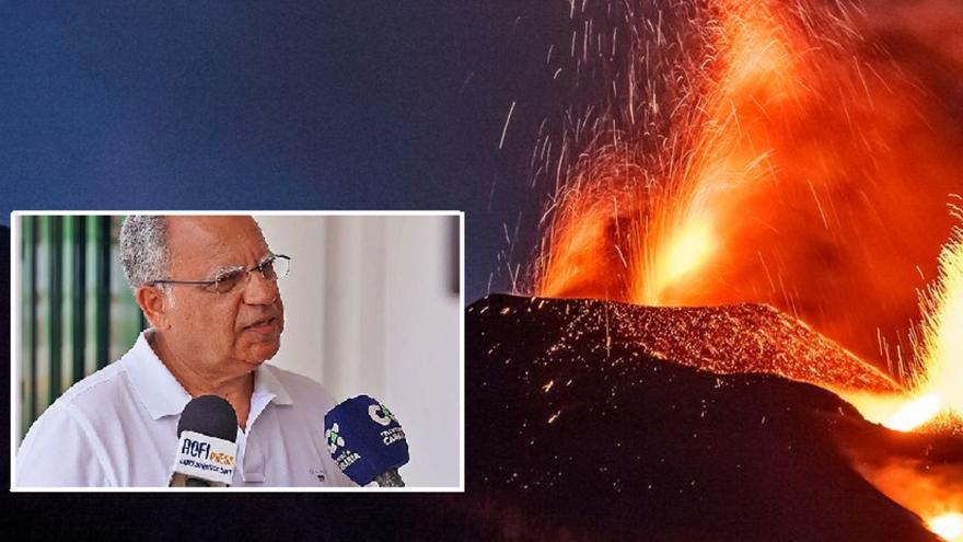 Casimiro Curbelo propone bombardear el volcán de La Palma para guiar la senda de la lava