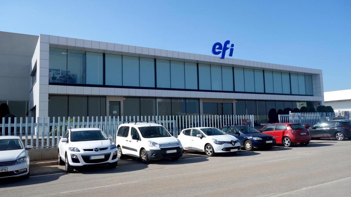 Fachada de las instalaciones de EFI en Almassora.