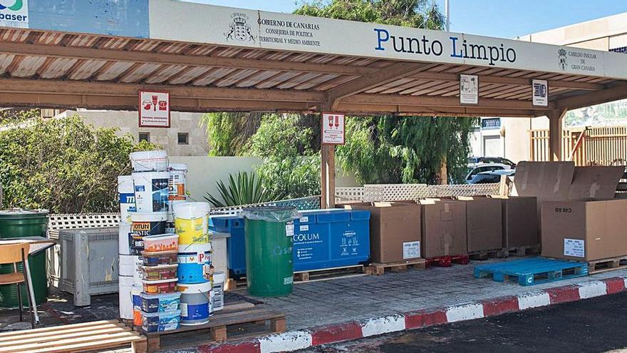 Los puntos limpios del Cabildo incrementan su capacidad para depositar hasta 500 kilos de escombros al día por usuario