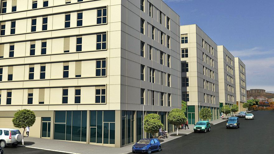 Construplan finaliza los dos edificios de viviendas del Plan de Tamaraceite