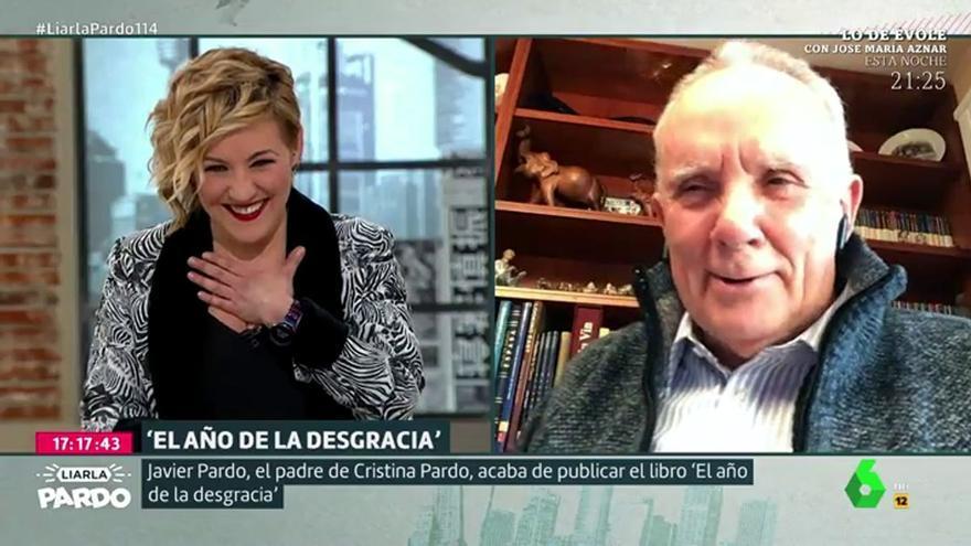 """Cristina Pardo, emocionada al entrevistar a su padre por sorpresa: """"Estoy muy nerviosa"""""""