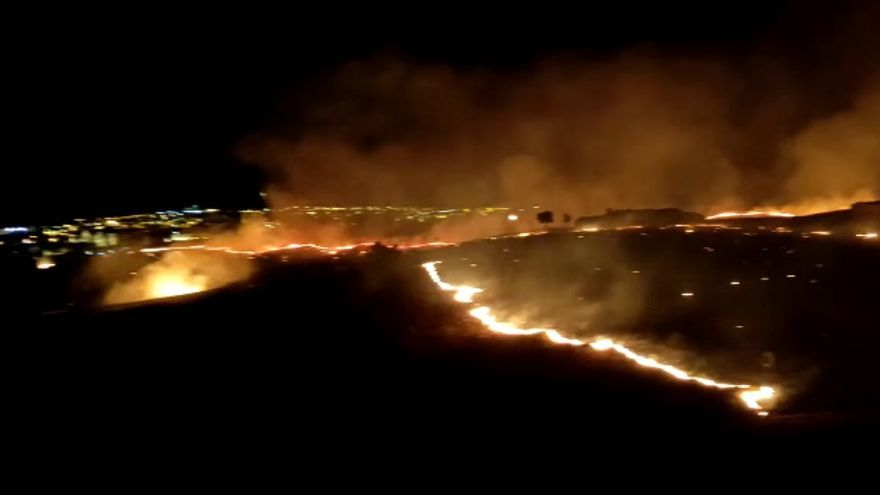 Incendio en Malpartida de Plasencia